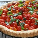 Quiché de tomates cherry