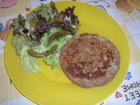 Hamburguesa vegetal, receta macrobiótica