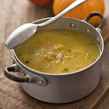 Sopa de calabaza y soja, opción vegetariana