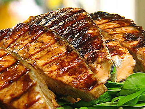 salmon grillado