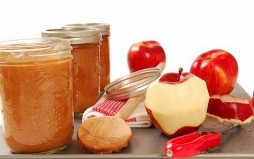 puré de manzanas