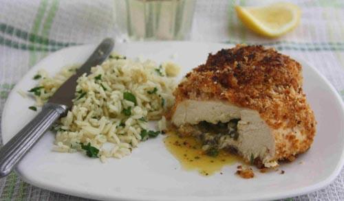 Pollo a la Kiev, sabores clásicos